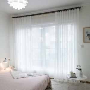 Minimalismus Gardinen Uni aus Polyester für Wohnzimmer Transparent