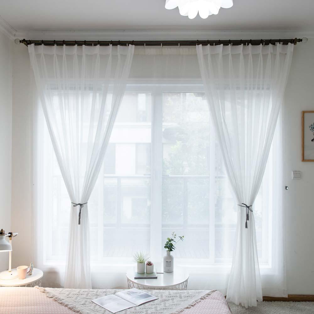 Minimalismus Gardinen Uni aus Polyester für Wohnzimmer ...