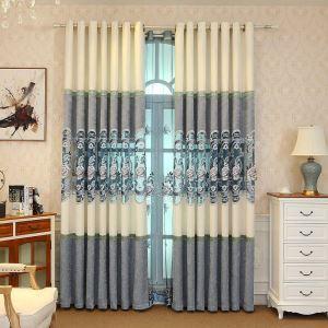 Vorhang mit Blumen Stickerei aus Chenille für Wohnzimmer