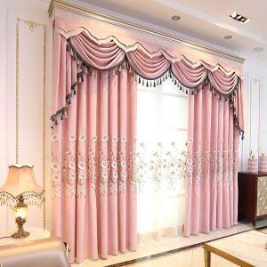 Moderner Vorhang Trichterwinde Muster aus Polyester für Schlafzimmer