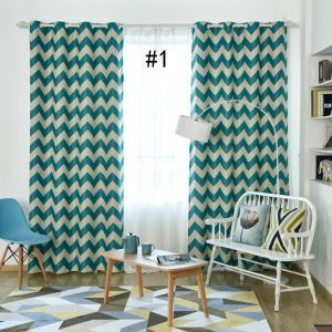 Moderner Vorhang Wellenmuster aus Polyester für Wohnzimmer