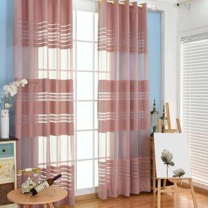Minimalismus Gardine Streifen Warp Knitted für Wohzimmer