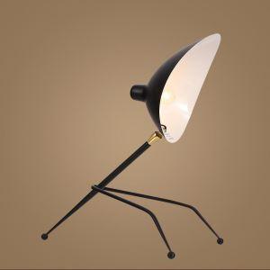 Kreative Tischlampe Schwarz aus Eisen Cap Design
