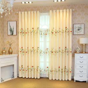 Landhaus Vorhang mit Siebenpunkt-Marienkäfer Motiv für Wohnzimmer