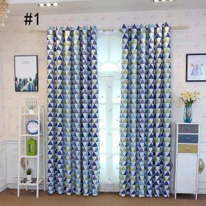 Moderner Vorhang mit Dreieck Motiv aus Polyester für Wohnzimmer