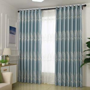 Moderner Vorhang mit Gerstenblume Motiv aus Polyester für Wohnzimmer
