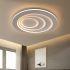 Zeige Details für Kreative LED Deckenleuchte Rund für Wohnzimmer in Weiß