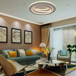 Moderne LED Deckenleuchte Rund für Wohnzimmer