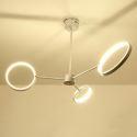 Kreative Led Pendelleuchte Ringe Design für Wohnzimmer