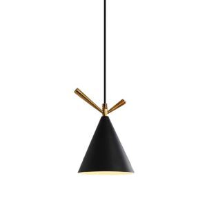 Moderne Hängeleuchte aus Eisen für Esszimmer in schwarz