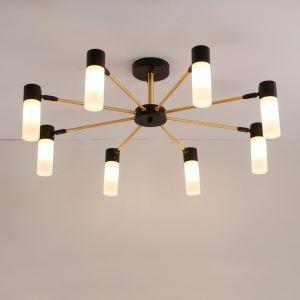 Kreative  LED Pendellampe aus Eisen und Acryl in schwarz oder golden