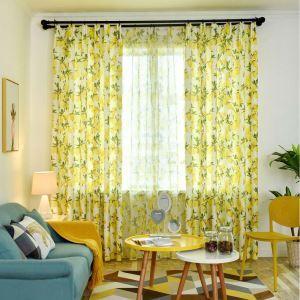 Moderner Vorhang mit Zitronen Motiv für Wohnzimmer