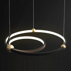 Moderne LED Pendellampe 2 Ringe für Wohnzimmer