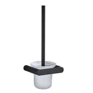 Toilettenbürstengarnitur Wandmontage aus Edelstahl in Schwarz