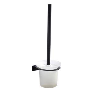 WC Bürstenhalter aus Edelstahl in Schwarz