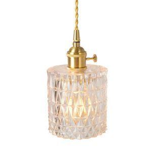 Pendellampe mit Glas Lampenschirm 1 flammig