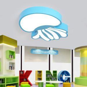 Cartoon Stil LED Deckenleuchte Qualle Design für Kinderzimmer