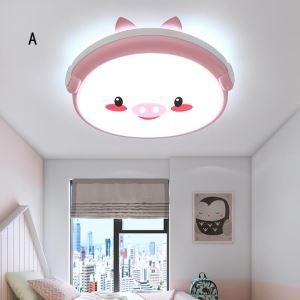 Kreative LED Deckenleuchte kleinen Schweinchen für Kinderzimmer