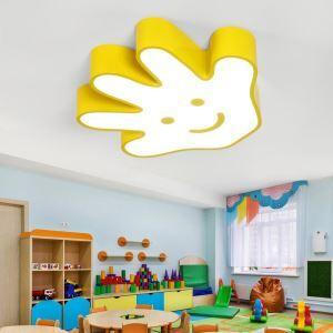 LED Kinderzimmerdeckenleuchte Hand -formige Cartoon Stil