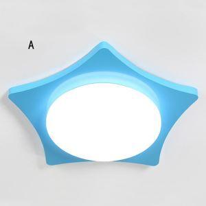 Kreative LED Deckenleuchte Stern Form aus Eisen und Acryl
