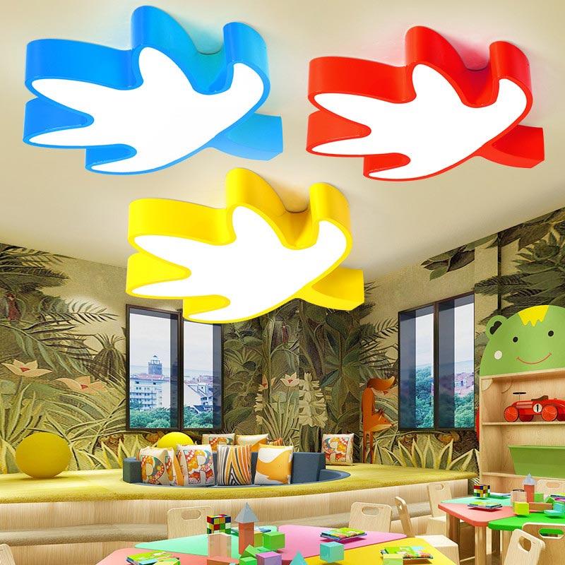 Kinderzimmer Deckenleuchte LED Ahornblatt Cartoon Stil