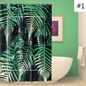 Moderner Duschvorhang mit Bananenblatt Motiv Antischimmel und Wasserdicht
