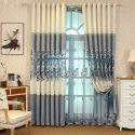 Moderne Gardine mit Stickerei aus Polyester für Wohnzimmer