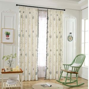 Landhaus Stil Vorhang mit Spitze für Wohnzimmer