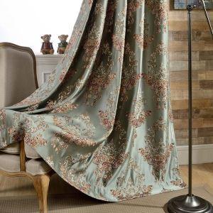 Europäische Vorhang Blumen Design für Schlafzimmer blickdicht