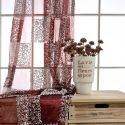 Moderne Gardine mit Stickerei aus Polyester für Schlafzimmer