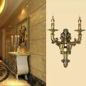 Wandleuchte Landhaus Stil Kerzen Design 2 flammig