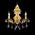 Kristall Wandlampe Zauberhaft 3 flammig in Gold