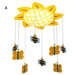 LED Kinderzimmerdeckenleuchten Sonnenblume Design mit Schmetterling und Biene