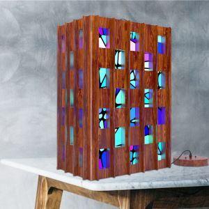 Pendelleuchte Landhaus Stil aus Holz Mosaik Kiste Design-Originell Design