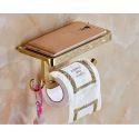 Toilettenpapierhalter Handtuchhaken Set Bad aus Messing