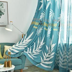 Nordische Stil Vorhang mit Bananenblatt Motiv für Wonhzimmer