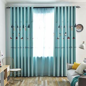 Moderner Vorhang Pendelleuchte Motiv für Schlafzimmer