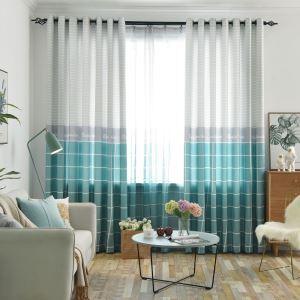 Kreativer Vorhang Karo Design aus Polyester