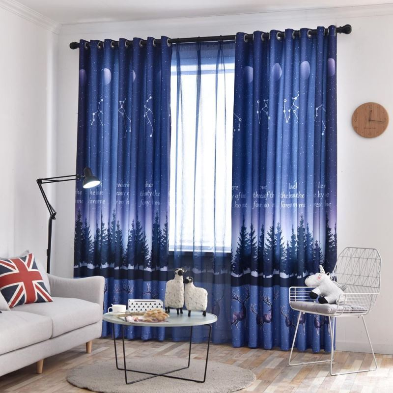 Moderner Vorhang Sternenhimmel Design für Schlafzimmer