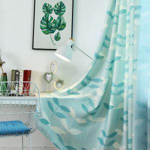 Moderner Vorhang mit Pflanzen Motiv für Wohnzimmer