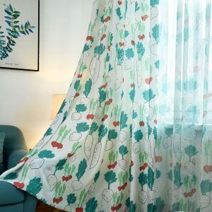 Kreativer Vorhang Mit Karotte Motiv für Wonhzimmer