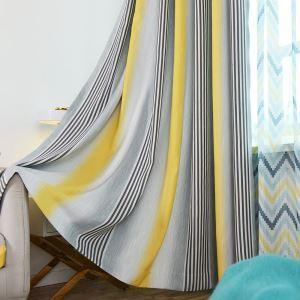 Bunter Vorhang Streifen Design für Wohnzimmer