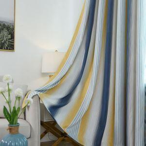 Minimalismus Vorhang bunte Streifen Design für Wohnzimmer