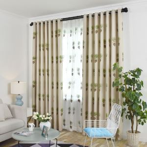 Minimalismus Vorhang mit Tannenzapfen Muster für Wohnzimmer