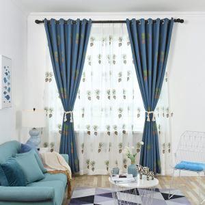 Moderner Vorhang mit Tannenzapfen Motiv für Wohnzimmer