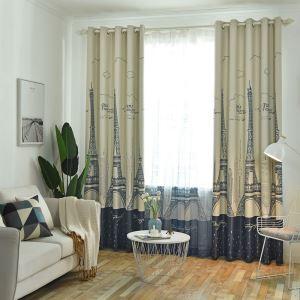 Kreativer Vorhang mit Turm Muster für Schlafzimmer