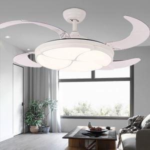 Beleuchtener Deckenventilator mit Led Lampe in Rund Klappbare Flügel