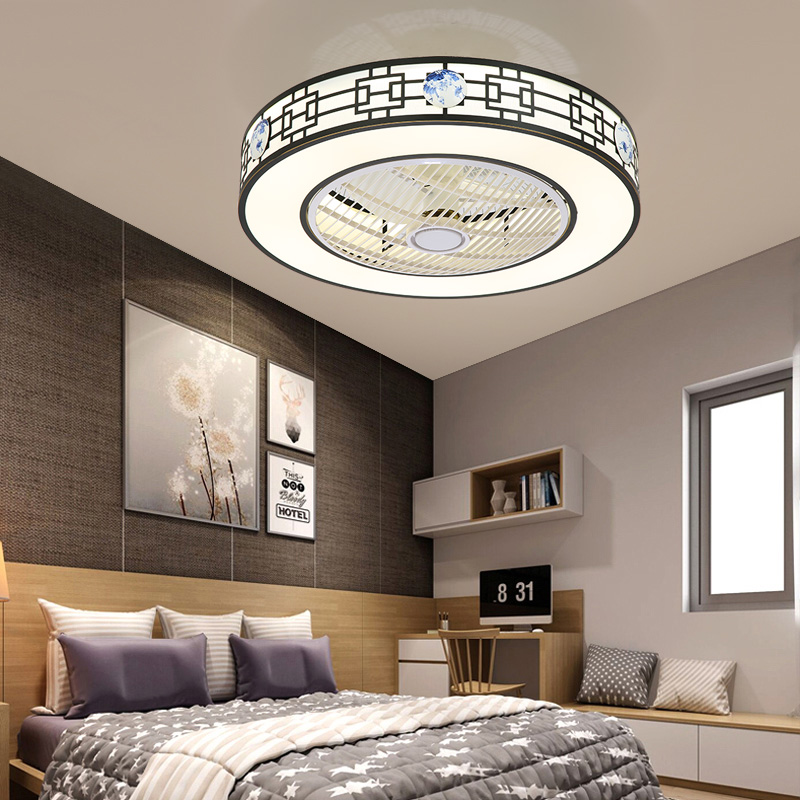 Minimalismus Deckenventilator mit LED Lampe in Rund für ...