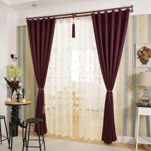 Moderner Vorhang Rot für Schlafzimmer Blickdicht 1er