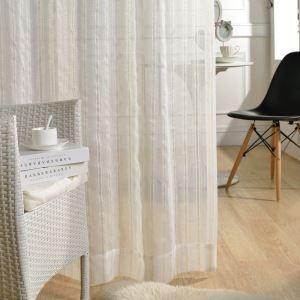 Moderne Gardinen Streifen Design transparent für Wohnzimmer